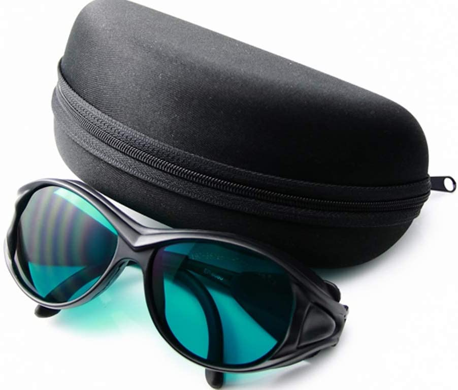 Gafas de protección láser para láser Rojo 635NM 650NM CE OD4+