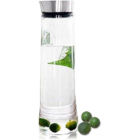 Wasserkaraffe Glas Krug Karaffe Wasserkrug Getränkekaraffe Kühlkaraffe 1L Aroma