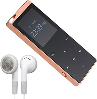16GB MP3 Player Portable Ultra-Thin Digital Music Player TF Card Slot Touch Button FM Radio Support BT Function with 3.5mm...