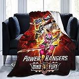 Power Rangers - Manta de animación infantil, manta de franela, ligera y cómoda, adecuada para camas de salón, sofás, sillas (Rangers1, 100 x 150 cm)