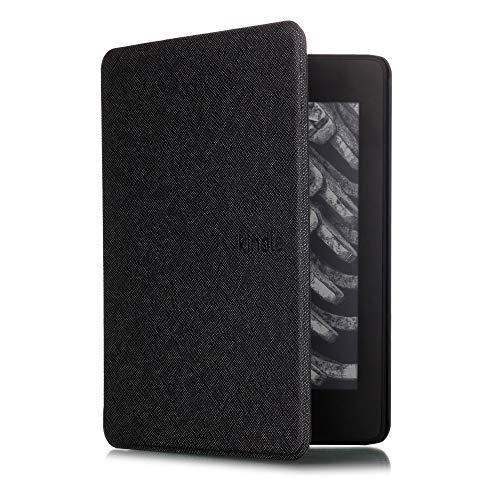 Capa + Pelicula para Novo Kindle Paperwhite (Apenas Versão à prova d'água) Função Hibernação (Preto)