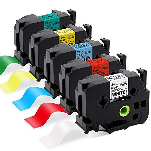 UK NEOUZA compatibile per Brother P-Touch TZ laminato TZe-Nastro 12 mm x 8 m TZe-631 Black on Yellow