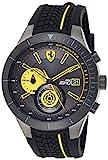 Ferrari 0830342 RedRev Evo - Reloj analógico de pulsera para hombre (cuarzo, correa de silicona)