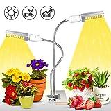 Lampe pour Plante, 100 LED Lampe de Croissance, E27/E26 Double remplaçable Ampoule...