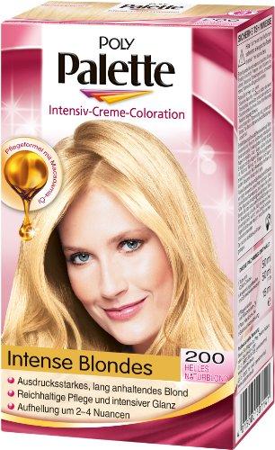 Poly Palette Intensiv-Creme-Coloration 200 Helles Naturblond Stufe 3