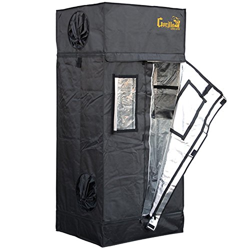 Gorilla Grow Tent Lite Line | Complete 2-Foot by 2.5-Foot Reflective Hydroponic Grow Tent for Growing Indoor Plants | Steel Interlocking Poles, Windows, Floor Tray