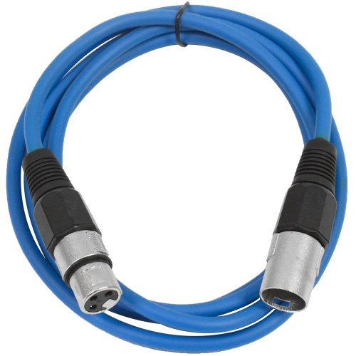 SEISMIC AUDIO - SAXLX-6 - 6 Blue XLR Male to XLR Female Patch Cable - Balanced - 6 Foot Patch Cord