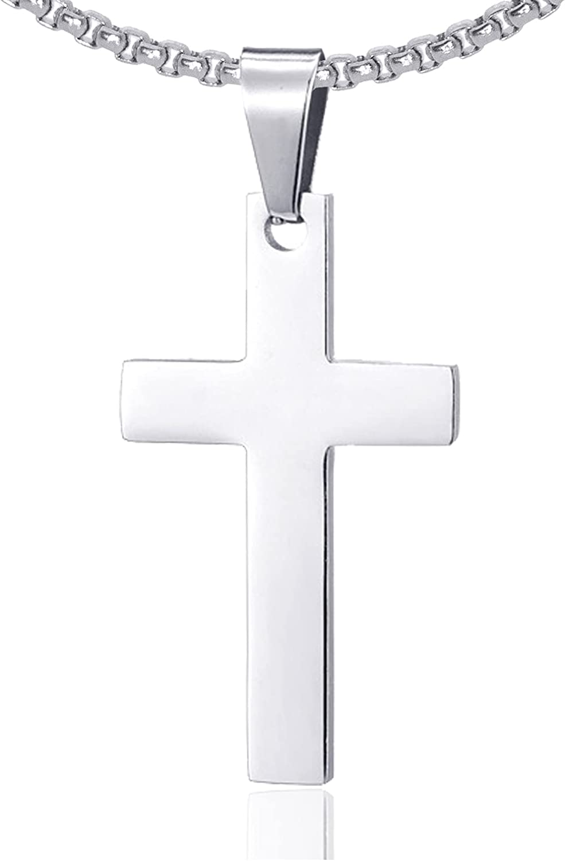 Fusamk Fashion Titanium Steel Prayer Soldering Cross Pendant 2021 new 24