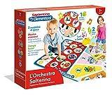 Clementoni - 12093 - Sapientino - Tappetone Elettronico - L'Orchestra Salterina, gioco educativo 2 anni, tappeto musicale bambini, tastiera pianoforte, elettronico luci e suoni