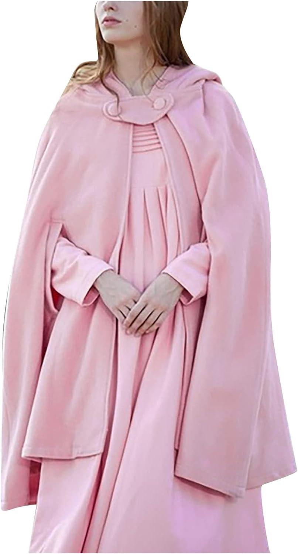 Zldhxyf Capa suelta con capucha para mujer, para otoño e invierno, para bodas
