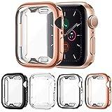 FITA [4 Piezas] Funda Compatible con Apple Watch Series 6/5/4/SE 40MM Protector, Suave TPU Cobertura Completa Protector de Pantalla Case, Anti-Choque Caso para Compatible con iwatch 6/5/4/SE (40mm)
