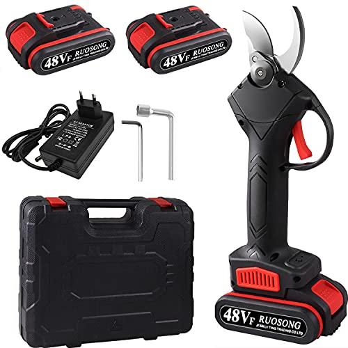 Siebwin 48VF Tijeras de Podar Electricas, Tijeras de Podar Bateria Ramas de árboles frutales, 2 Paquetes de baterías, 5-7 Horas de Trabajo, diámetro de Corte de 1,2 Pulgadas