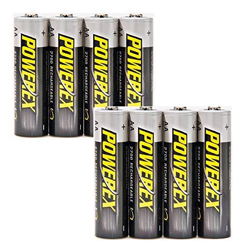 ELV Powerex-NiMH-Akku, Mignon AA 2700 mAh, 8er-Pack