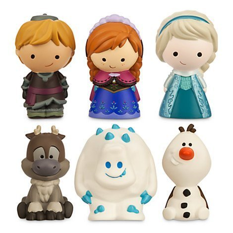 Disney Frozen 6 Pc Bath Tub Pool Toy Set Olaf Elsa Anna Sven Kristoff Marshmallow