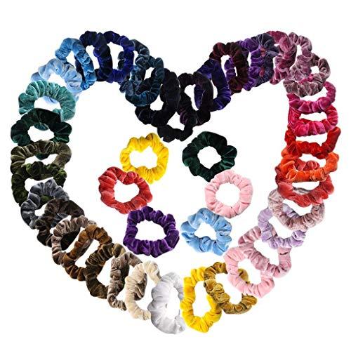 Yue668 - Banda para el cabello, joyas de terciopelo, 47 piezas, multicolor, para mujeres o niñas