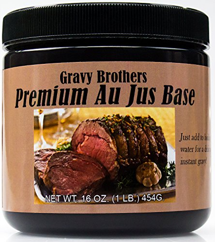 Premium Au Jus Concentrate 16oz by Gravy Brothers. Restaurant-Quality Roast Beef Base for Making Delicious Dipping Juice for Savory Prime Rib, Sandwiches & French Dip Sauce. Guaranteed to Please!