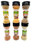 GRACE SEASONING - CARIBBEAN TRADITION SPICES VARIETY PACK (PACK OF 6) ALL PURPOSE SEASONING 4.2 oz CHICKEN SEASONING 4.7 oz COCK FLAVOR SEASONING 5.3 oz CURRY POWDER3 oz JERK SEASONING 5 oz OXTAIL SEASONING CARRIBBEAN SEASONING, GRACE SEASONING - CAR...