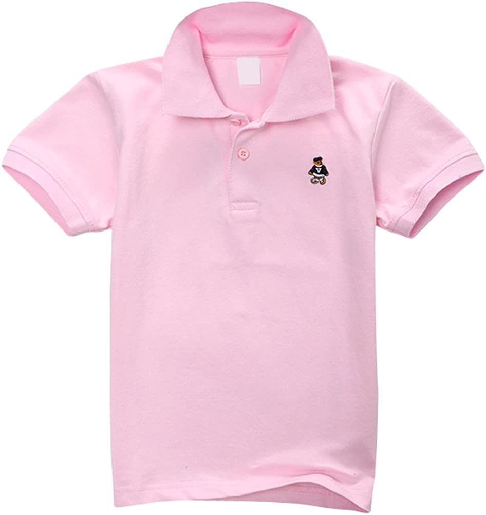 Tortor 1Bacha Kid Boys' Solid Short Sleeve Polo Shirt