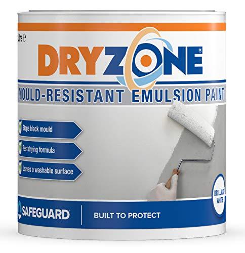 Dryzone Bathroom & Kitchen Paint (1 Quart) Brilliant White - 105 sq. ft to 130 sq. ft coverage