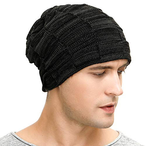 Buy Vgogfly Slouchy Beanie for Men Winter Hats for Guys Cool Beanies Mens  Lined Knit Warm Thick Skully Stocking Binie Hat Black at Amazon.in