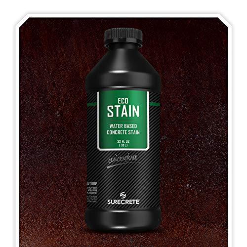Surecrete EcoStain Water-Based Concrete Stain - 32 Ounce Concentrate (Espresso)