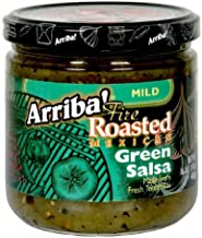 Arriba! Fire Roasted Mexican Green Salsa Mild -- 16 oz (Pack of 3)