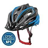 X-TIGER Bicicleta Casco Adulto Unisexo con Certificado CE,Visera y Forro Desmontable Especializado para Ciclismo de Montaña-Azul