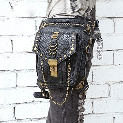 Unisexe Taille Fanny Leg sac Cuisse Ceinture Moto Ride Punk Rock Messenger Goth Pack Femmes Ceinture Sac