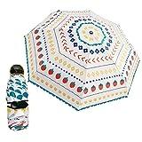 1本 ミニポータブル折り畳み日傘 uvカット 遮熱軽量 晴雨兼用 男女兼用 イチゴの模様 雨傘 超軽量