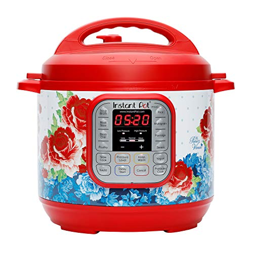The Pioneer Woman Instant Pot DUO60 6-Quart Frontier Rose 7-In-1 Multi-Use Programmable...