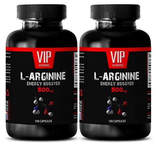 Increase Sexual Desire for Men - L-ARGININE 500 Mg - Arginine Vitamin - 2 Bottles 200 Capsules