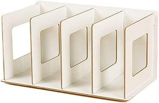 SanQing Rack de CD de Madera Plegable Rack de DVD Rack de Libros Rack de CD Soporte de DVD Estante de Almacenamiento de CD,White