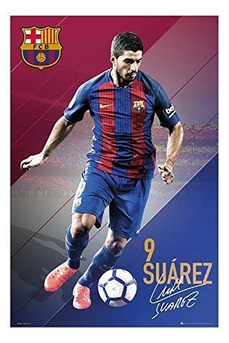 Barcelona Luis Suarez 2016-2017 Poster Satin Matt Laminated - 91.5 x 61cms (36 x 24 Inches)