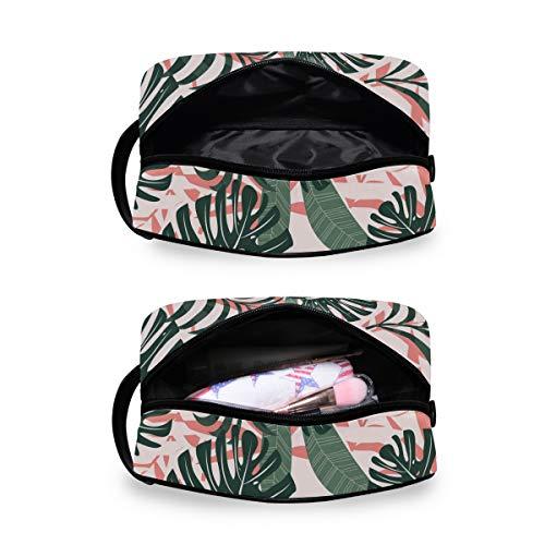 Kulturbeutel für Damen oder Herren – Sommer-Trend Tropische Blätter Pflanzen Druck Handing Kosmetik Make-up Tasche Organizer Tasche für Badezimmer Dusche