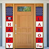 USA American Happy Labor Day Decoration Banner Patriotic Decorations for Party Celebration Holiday Labor Day Decoration Outdoor Indoor Front Porch Wall Yard