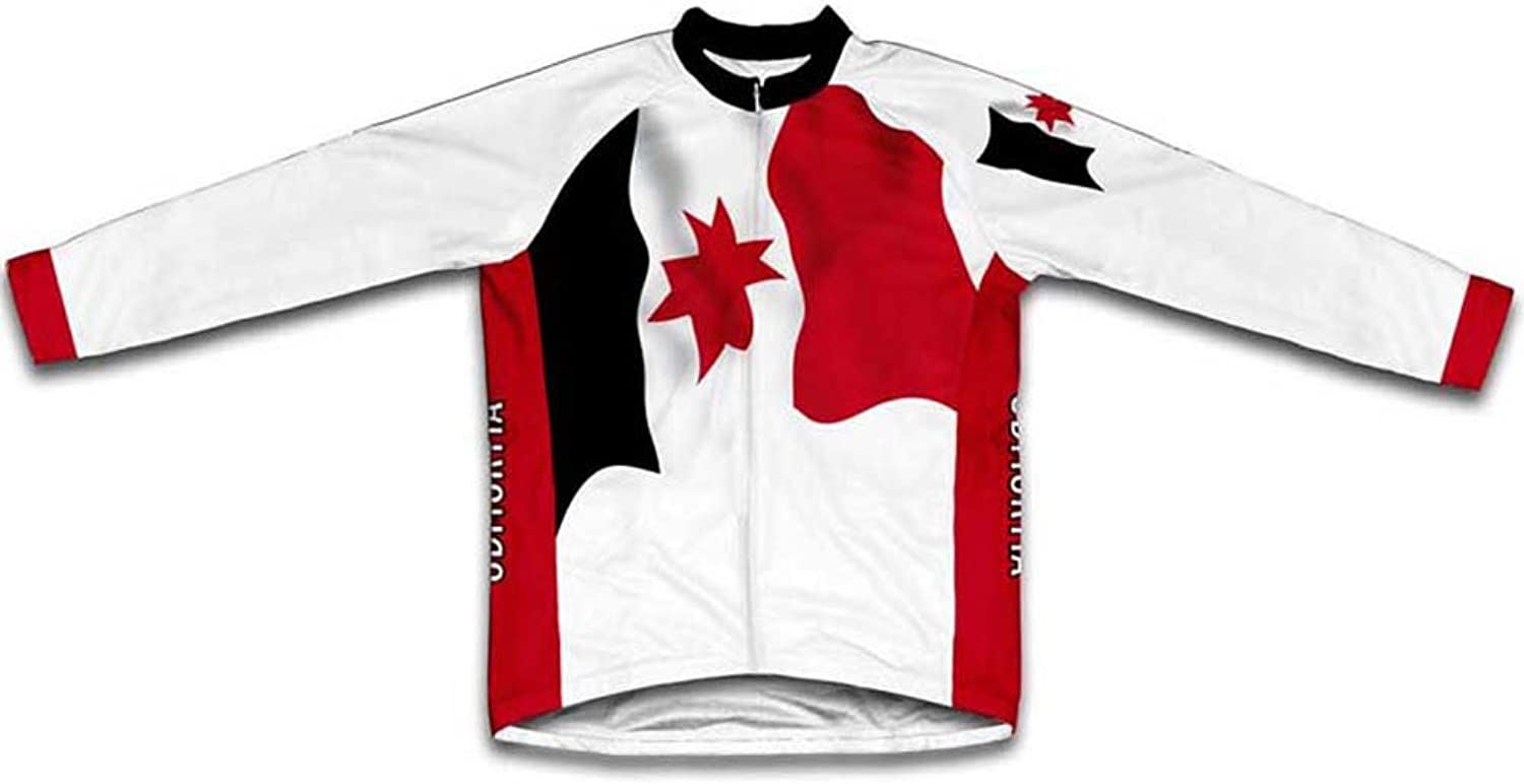 Udmurtia Flag Long Sleeve Cycling Jersey for Women