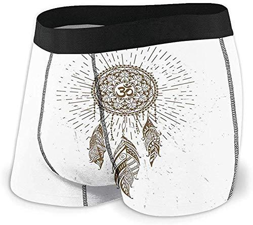 Preisvergleich Produktbild Männer 'S Unterwäsche Sport Boxer Briefs,  handgezeichnete Stil Dream Catcher mit Mandala Hippie Art Größe S MBF-335