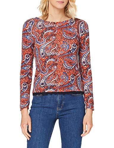 Springfield Bajo Crochet-c/66 Camiseta, Naranja (Orange 66), XS (Tamaño del Fabricante: XS) para Mujer