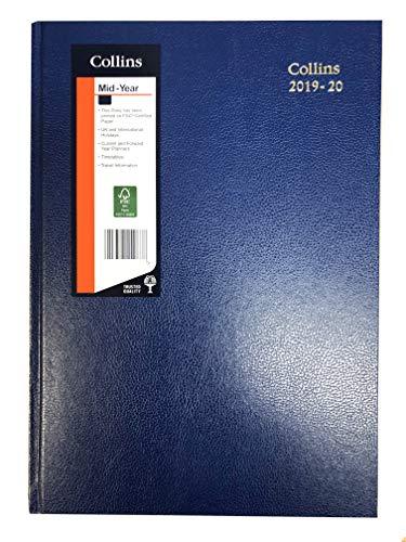 Collins 38M A5 Week to View 2019-2020 biurko dziennik - niebieski