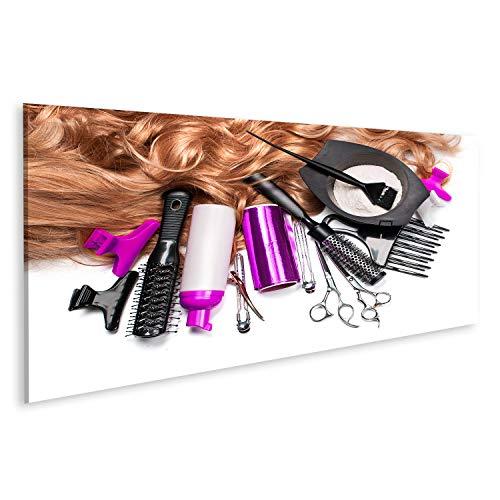 islandburner, Cuadro Cuadros Accesorios de peluquería para teñir el Cabello sobre Fondo Blanco Impresión Lienzo Formato Grande Cuadros Modernos RGG