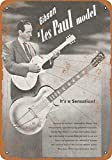 Forry Gibson Les Paul Model Metall Poster Retro