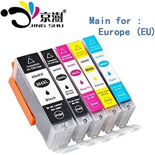 HAMISS 5pcs Compatible ink cartridge 364XL 364 XL for HP Photo5510 5515 6510 7520 6520 5520 5524 B010a B109a B209a Deskjet 3070A