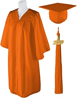 Adult Unisex Matte Graduation Cap and Gown with Matching 2019 Tassel