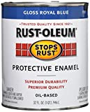 Rust-Oleum, Gloss Royal Blue 7727502 Stops Rust, 32 oz. Quart, Can