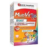 Forté Pharma - Multivit Kids | Complément Alimentaire Forme et Tonus - Enfants de 5 ans et plus - 12 Vitamines et 7 Minéraux - Renforcé en Gelée Royale et Calcium | 30 comprimés à croquer