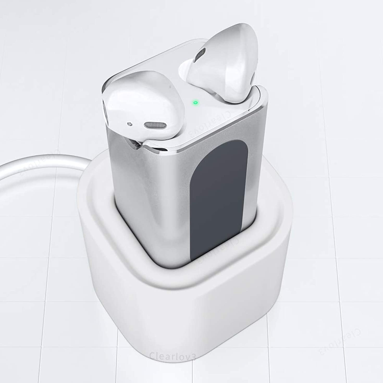 UPSTONE Fastest Charging Adapter Compatible for AirPods, 15 Minutes Fast Charging Adapter Compatible for Air Pods Wireless Headphones Car Charger with Stand Holder