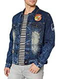 Southpole Men's Aian Utility Premium Fashion Denim Jacket, Dark Vintage Originals, Small