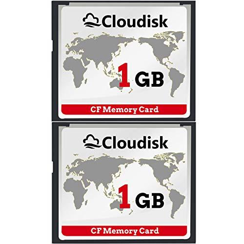 Cloudisk 2X CF-Karte Compact Flash 1 GB Speicherkarte Leistung für Vintage Digitalkamera