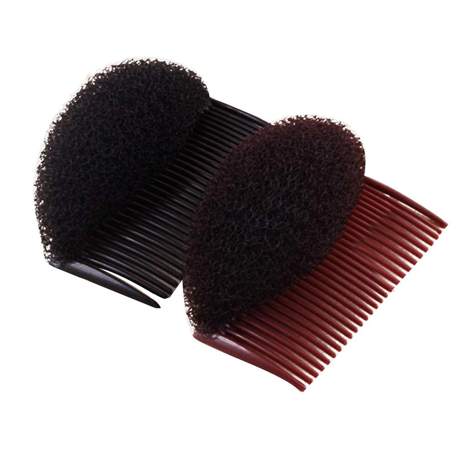 匿名ウール値下げLurrose 盛り髪ベース ヘア 美容ツール ヘアアクセサリー 4ピース
