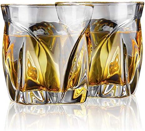 AEGIS Crystal Whiskey Glasses Set of 2 Fire Polished Titanium Infused Whiskey Gift Set European product image